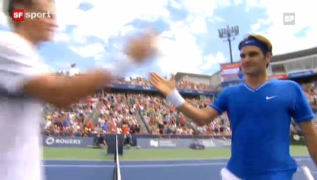 Video «Federer problemlos im Achtelfinal» abspielen