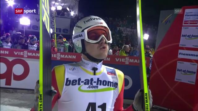 Simon Ammann verpasst Medaille von der Grossschanze