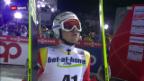 Video «Simon Ammann verpasst Medaille von der Grossschanze» abspielen