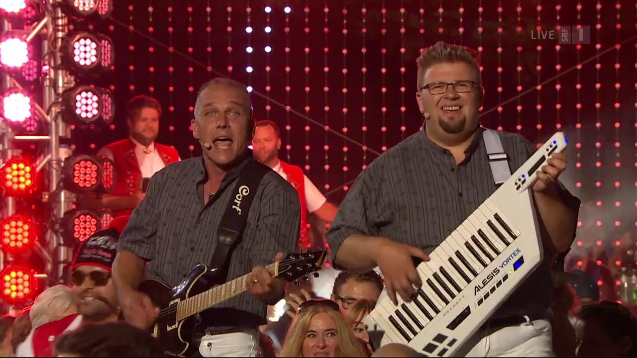 Partyhelden feat. Sängerfreunde mit «Dini Seel ä chli la bambälä»