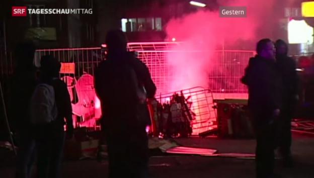 Video «Demonstrationen in Hamburg» abspielen