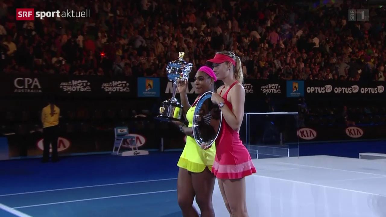 Tennis: Australian Open, Final Williams - Scharapowa