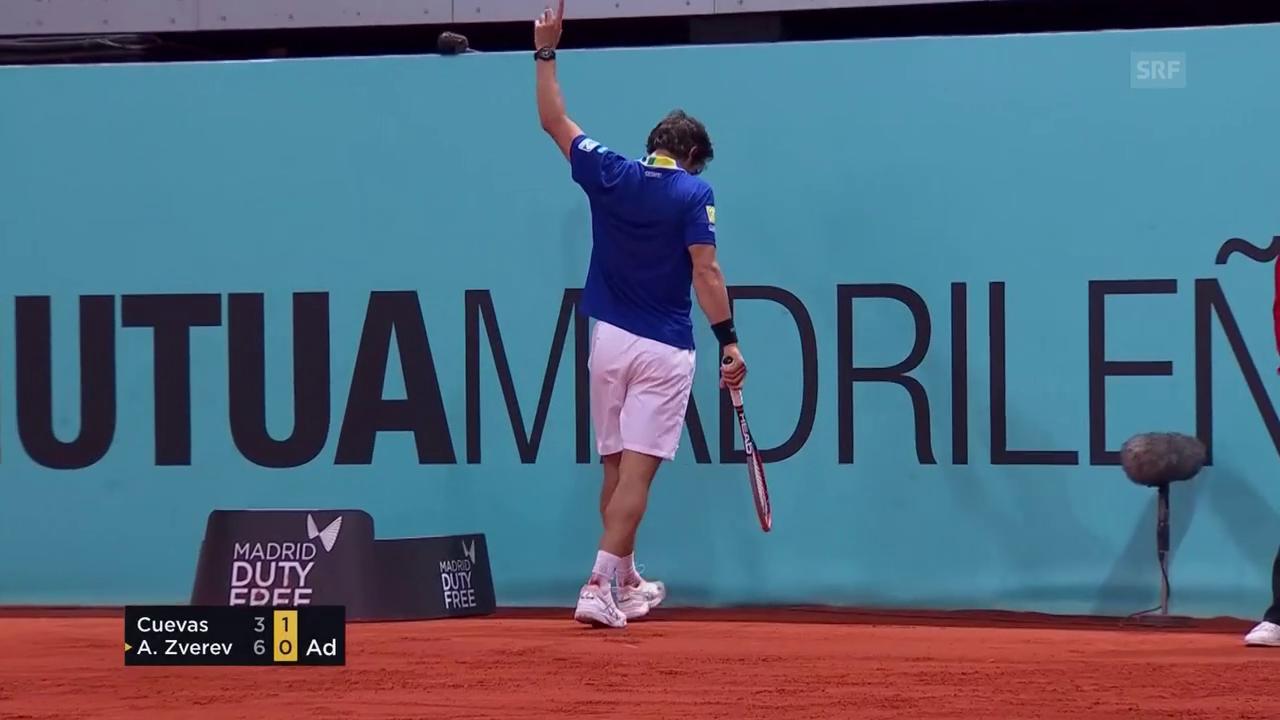 Pablo Cuevas zaubert im Viertelfinal von Madrid