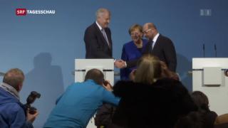 Video «Einigung bei deutschen Sondierungsgesprächen» abspielen