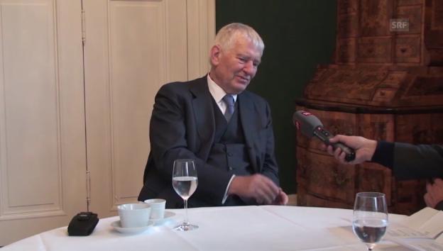 Video «Deutschlands Ex-Innenminister Schily zur Obergrenze» abspielen