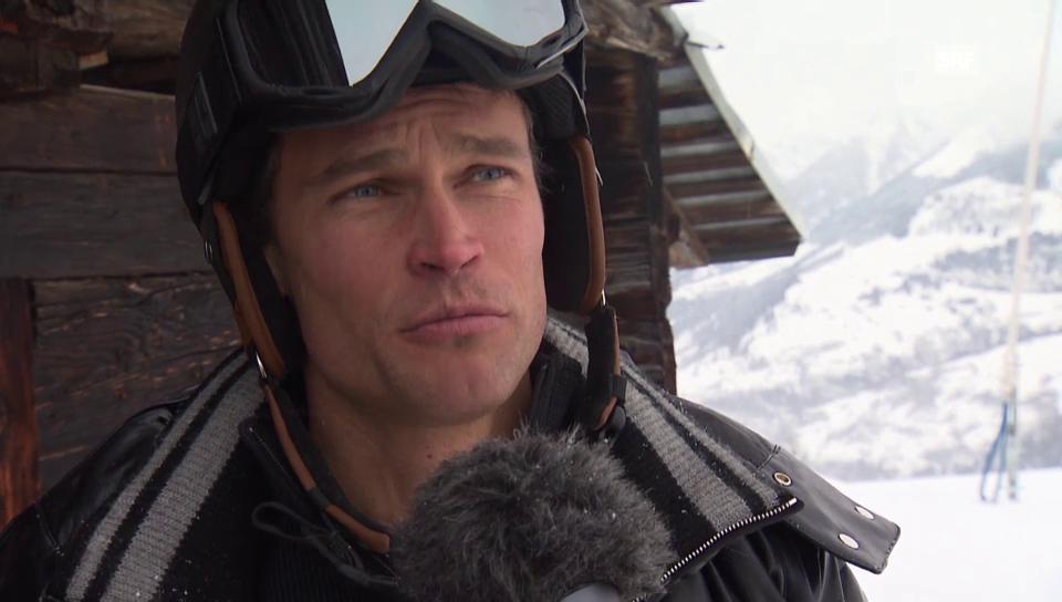 Skitag mit Renzo Blumenthal und seiner Familie