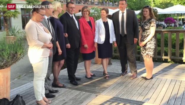 Video «EU-Parlamentarier besuchen die Schweiz» abspielen