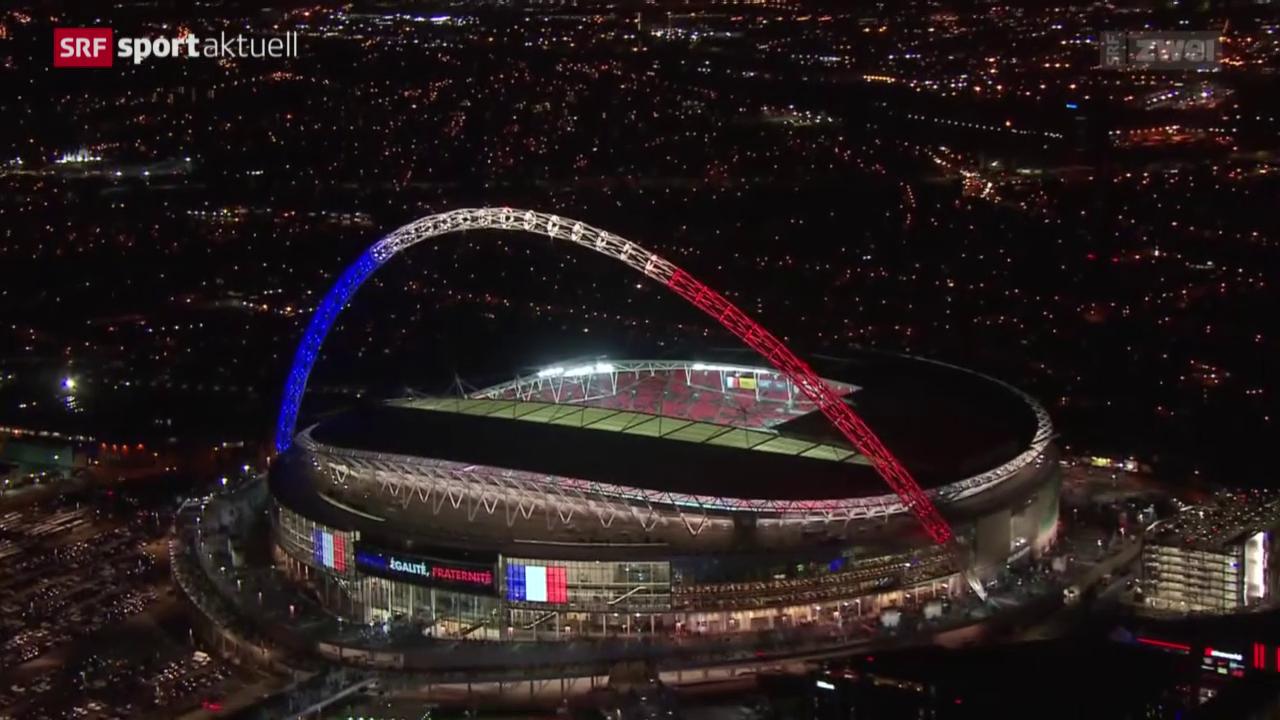 Fussball: Testspiel England - Frankreich