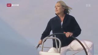 Video «FOKUS: Marine Le Pen inszeniert sich als Schiffskapitänin» abspielen