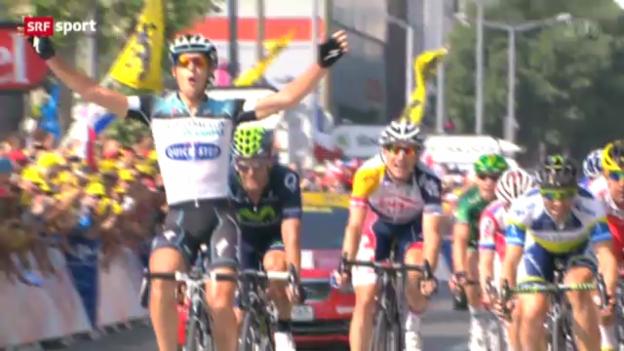 Video «Rad: Tour de France, 14. Etappe» abspielen