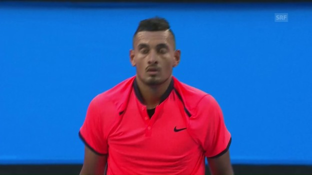 Video «Kyrgios ist wieder da: zahm und stark (Quelle: SNTV)» abspielen