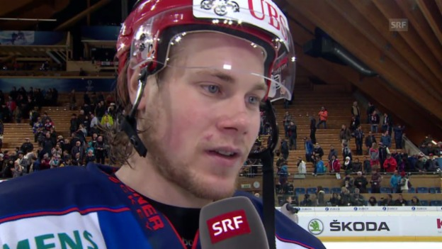 Video «Eishockey: Spengler Cup, Interview mit Marco Maurer» abspielen