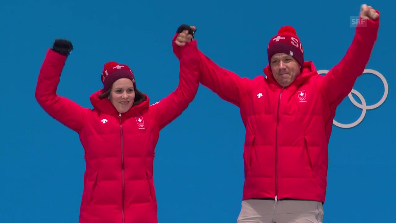 Rios/Perret freuen sich über ihre Silbermedaille