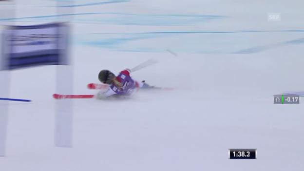 Video «Ski: Riesenslalom Sölden, Lara Gut out» abspielen