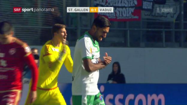 Video «Vaduz bleibt St. Gallens Angstgegner» abspielen