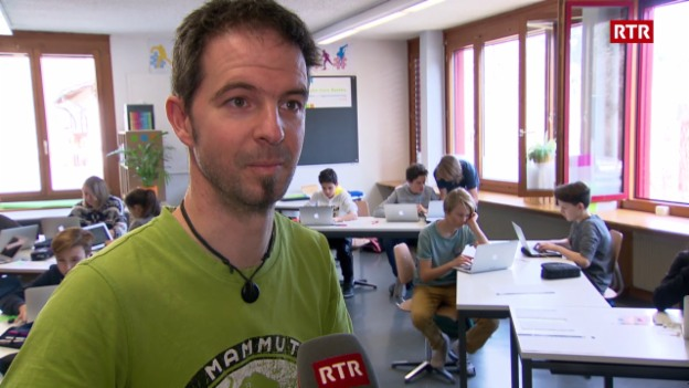 Laschar ir video «David Halser, il manader da la scola da talents a Glion tira bilantscha»