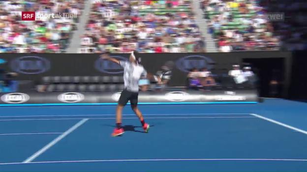 Video «Federer übersteht auch die 2. Runde» abspielen