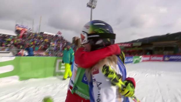 Video «Freestyle-WM in Kreischberg: Skicross der Frauen, Final mit Fanny Smith» abspielen