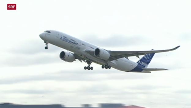 Video «Airbus punktet in Japan mit A350» abspielen
