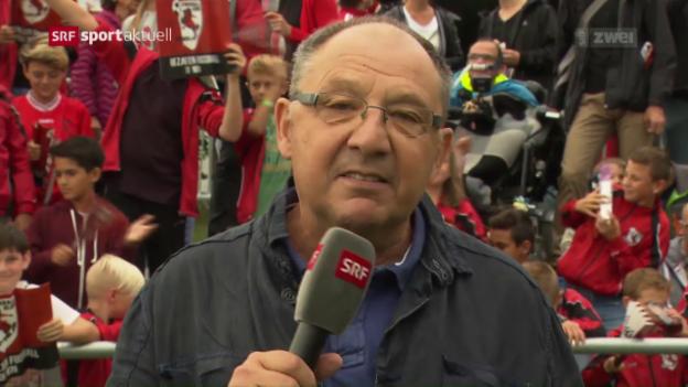 Video «Beni Thurnheer darf von seinem «Seuzi» berichten» abspielen