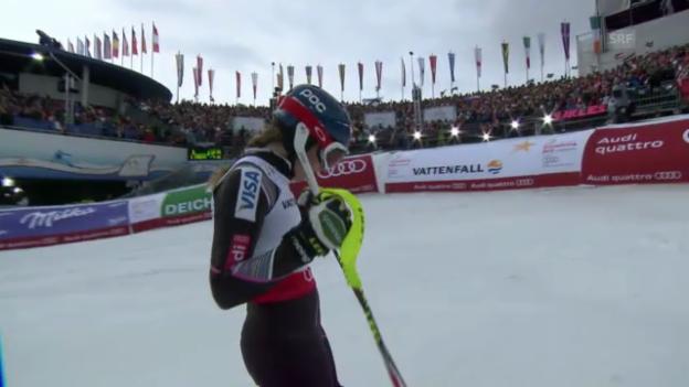 Video «WM-Slalom: 2. Lauf Shiffrin» abspielen