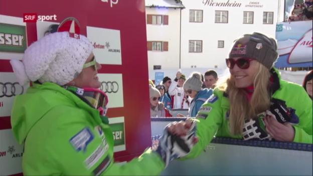Video «Ski: Frauen-Abfahrt in St. Anton («sportaktuell»)» abspielen