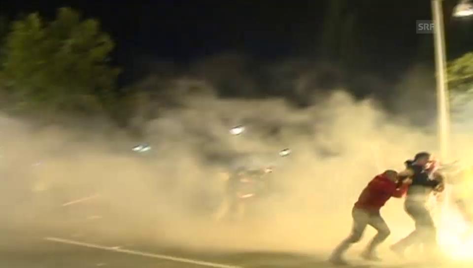 Zusammenstösse zwischen Polizei und Demonstranten in Montenegro (24.10.15)