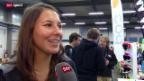 Video «Ski: Wendy Holdener nach ihrer Verletzung» abspielen