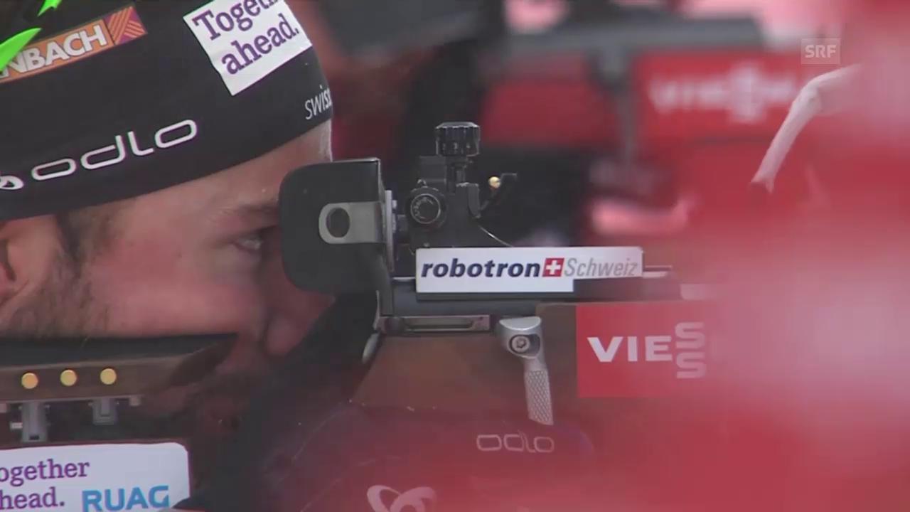 Biathlon: Weltcup, Ruhpolding, 10 km Sprint, Schiessen Weger