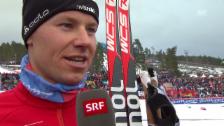 Video «Langlauf: WM Falun, 15 km Skating, Interview Toni Livers» abspielen