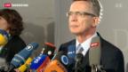 Video «De Maizière vor Bundestags-Ausschuss» abspielen