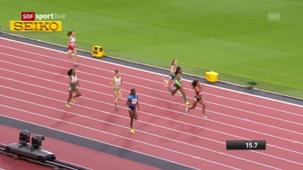 Video «Der 200-m-Vorlauf von Mujinga Kambundji» abspielen