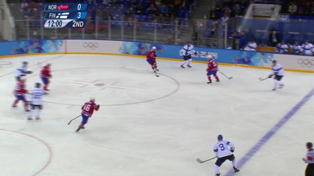 Video «Eishockey: Finnland - Norwegen (sotschi direkt, 14.02.2014)» abspielen