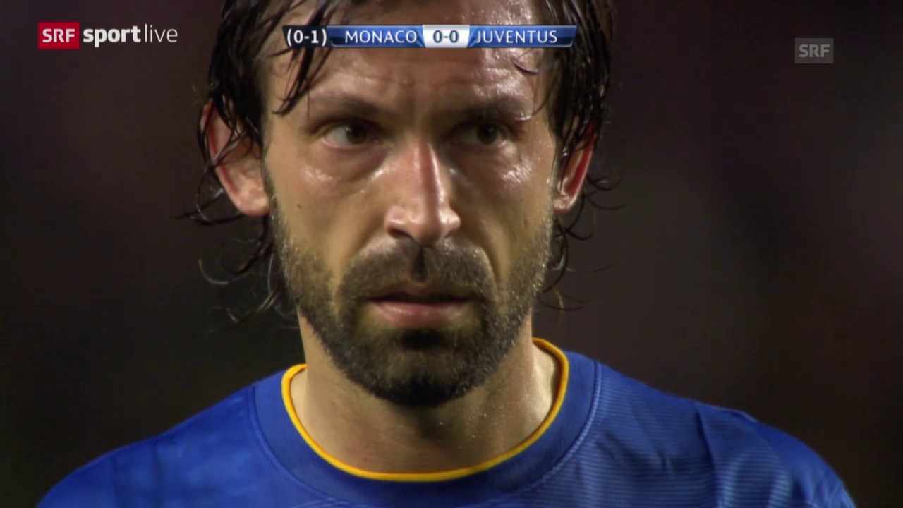 Fussball: Champions League, Andrea Pirlos Freistoss gegen Monaco