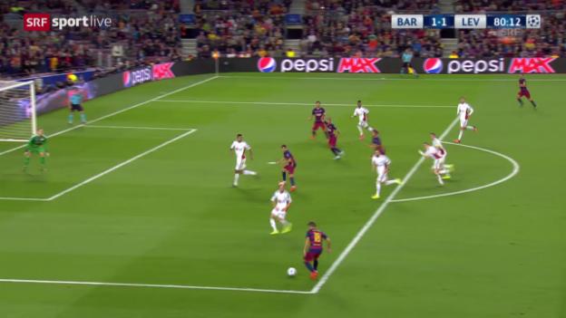Video «Barcelona-Leverkusen: 1:1 Roberto» abspielen