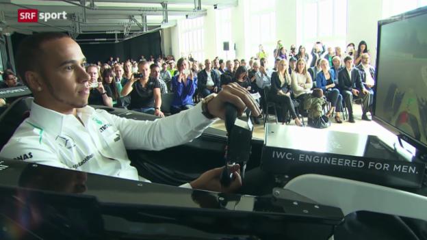 Video «Formel 1: Lewis Hamilton zu Gast in Schaffhausen» abspielen