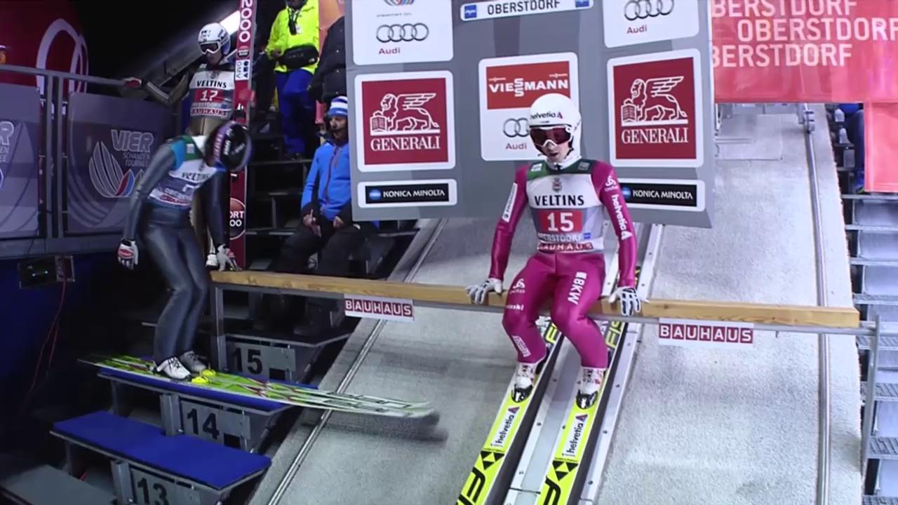 Skispringen: Ammanns 2. Sprung