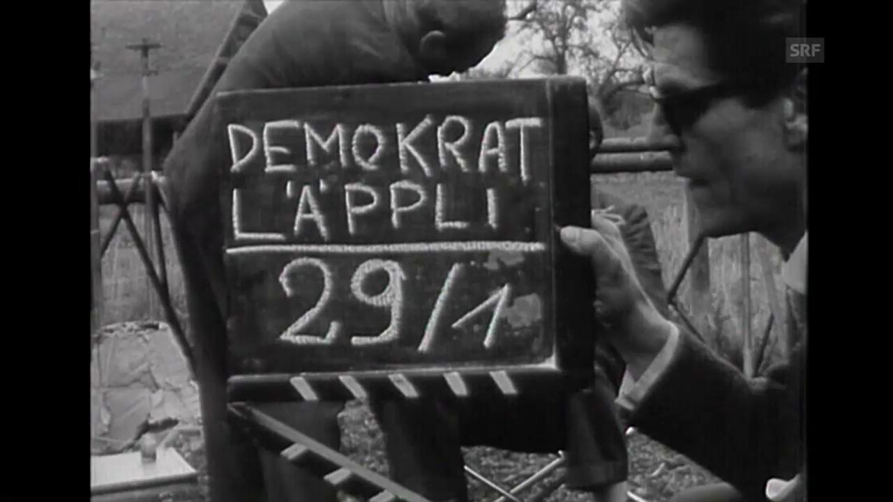 Dreharbeiten (Tagesschau, 13.9.1961, o. Ton)