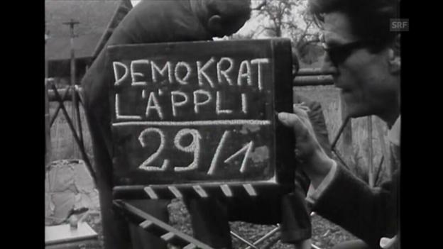 Video «Dreharbeiten (Tagesschau, 13.9.1961, o. Ton)» abspielen