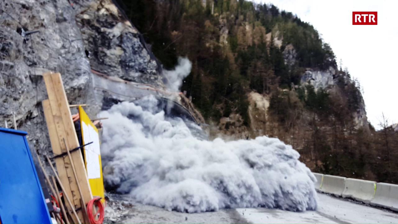 L'emprima siglientada dal nov tunnel Val Pischöt