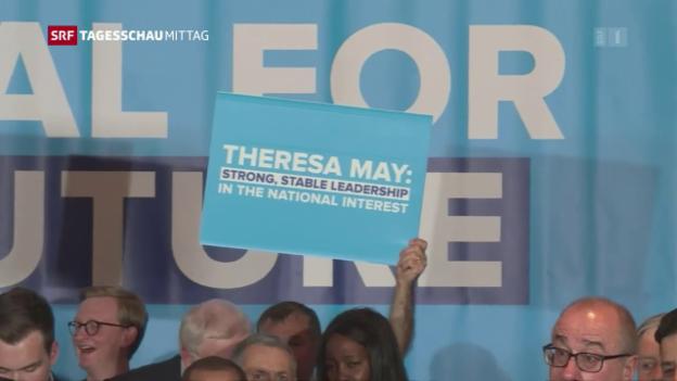 Video «Theresa May bangt bei Wahlen» abspielen