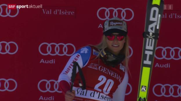 Video «Ski: Frauen-Abfahrt in Val d'Isère» abspielen
