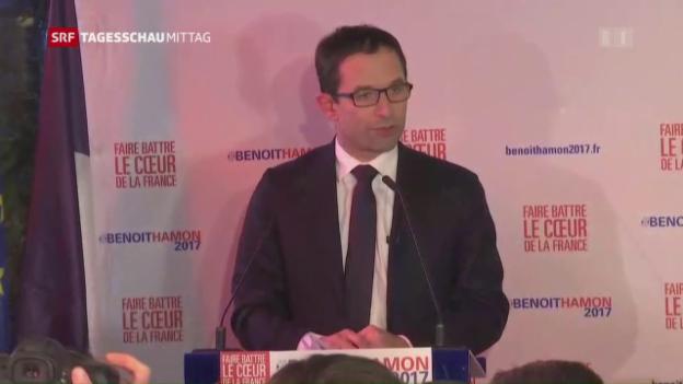 Video «Frankreich: Hamon gewinnt Vorwahl bei Sozialisten» abspielen