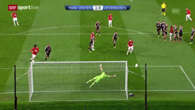 Video «CL: Manchester United - Leverkusen» abspielen