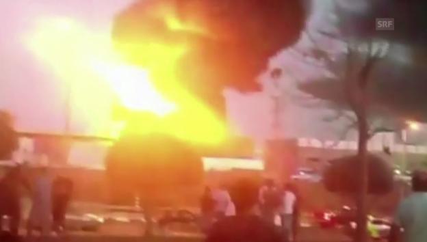 Video «Brand in der Stadt Sderot (Amateueraufnahmen)» abspielen