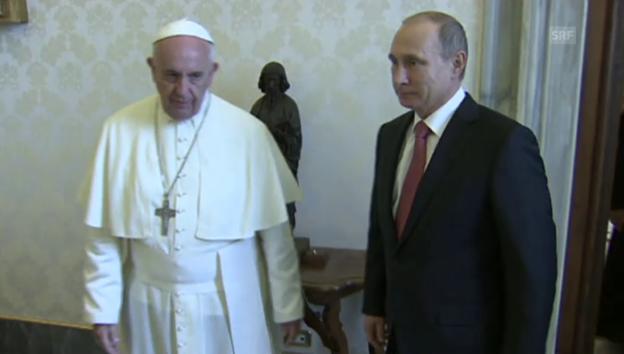 Video «Putin bei Papst Franziskus (unkommentiert)» abspielen