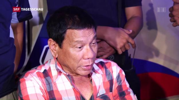 Video «Hardliner Duterte gewinnt Wahl» abspielen
