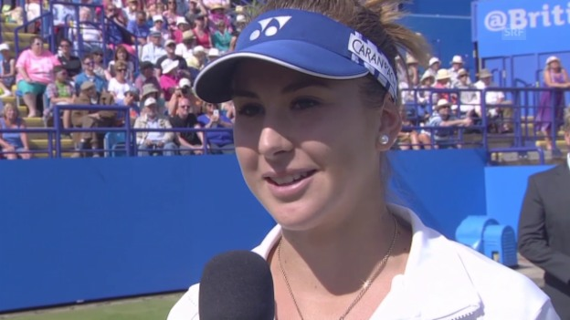 Video «Tennis: WTA Eastbourne, Platzinterview mit Belinda Bencic» abspielen