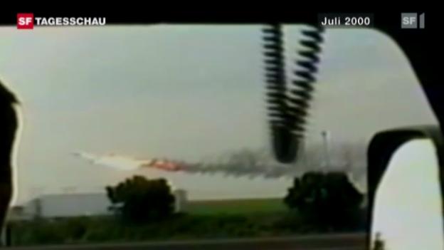 Video «Continental Airlines Schuld an Concorde-Unglück» abspielen
