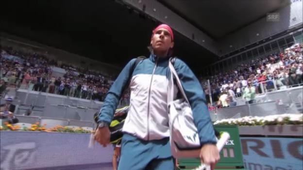 Video «ATP Madrid: Nadal - Juschni («sportaktuell»)» abspielen